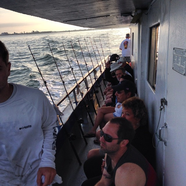 Captain brian morgan shows local 39 party boat 39 guests how for Guests and fish